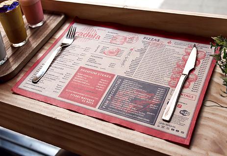 Papirnati podmetači za stol za restorane i ugostiteljstvo